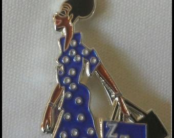 Zeta Phi Beta Sorority Lady Diva Lapel Pin
