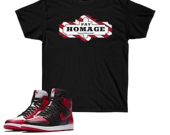 294f87408c8 Jordan Sneakermatch Tee, Sneaker Match Shirt, Jordan 1 Homage Match T-Shirt  TGI Homage, Graphic Gildan T-Shirt