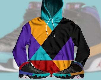 8828ee91c66d37 Jordan 9 Dream It Do It Sneaker Match Colorblock Hoodie