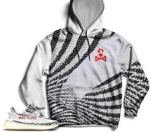 49a55580d Zebra Yeezy Boost 350 V2 Hoodie