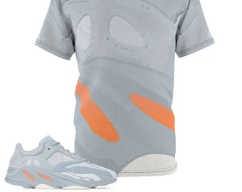 190105d76 Yeezy Boost 700 Inertia All Over Print Sneaker Match T-Shirt
