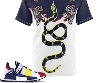 26029de02ce Gucci Inspired Adidas Nmd Hu Pharrell X Billionaire Boys Club Cut Sew Shirt  V2