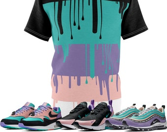 b7a7ef50 Nike Air Max Have A Nike Day Sneaker Match T-Shirt ColorBlock Drip Cut&Sew