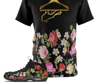 new product 61af1 11191 Foamposite Floral All Over Print Sneaker Match Shirt, Floral Foamposite  Shirt, Floral Foam T-Shirt, Cut Sew Now Serving Macro 1 2 Bouquet