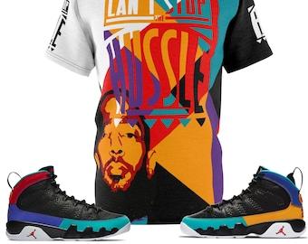 e10b3e0f9ae1 Custom Nipsey Hussle x Jordan 9 Dream It Do It SneakerMatch T-Shirt