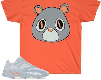 newest 6d0df b77e8 Yeezy Boost 700 Inertia Sneaker Match T-Shirt Yeezy Bear V1 Orange Gildan  Shirt
