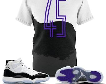 the latest ac9d9 0f430 Jordan 11 Retro Concord 2018 Sneaker Match T-Shirt, The 45 T-Shirt Cut Sew