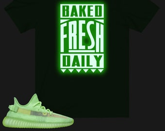 new concept 8759a fed7b Yeezy Boost 350 V2 Glow Sneaker Match T-Shirt, Yeezy Glow T-Shirt, Yeezy T- Shirt, Glow Shirt, TLOP, Baked Fresh Daily Glow Shirt