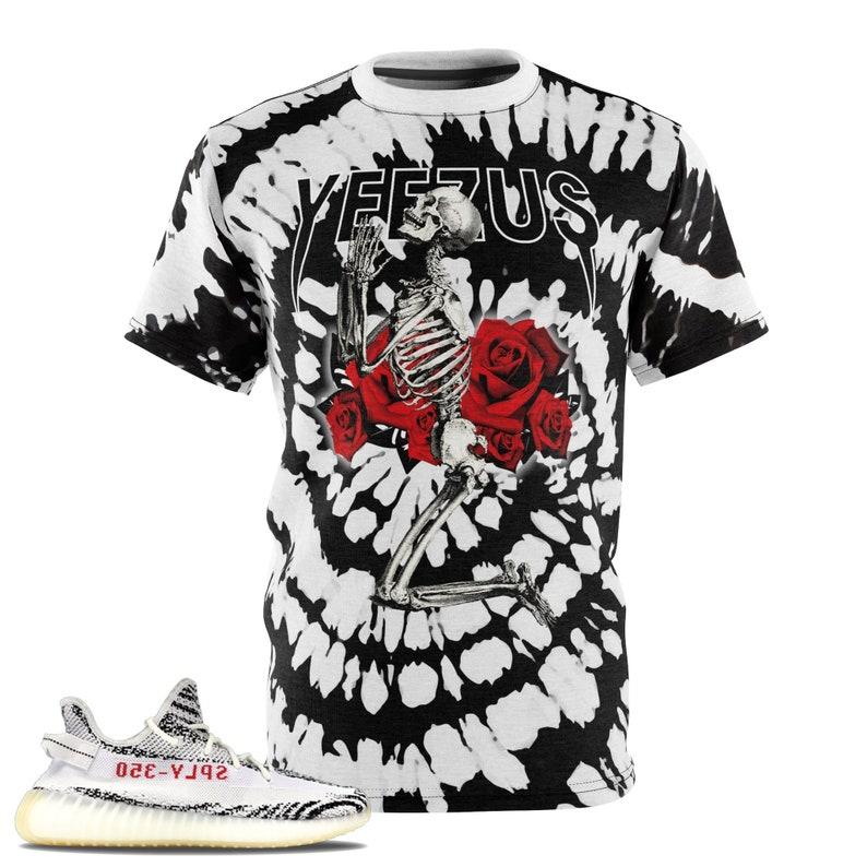2e34cae2671 Zebra Yeezy Boost 350 V2 T-Shirt Tie Dye Print Yeezus