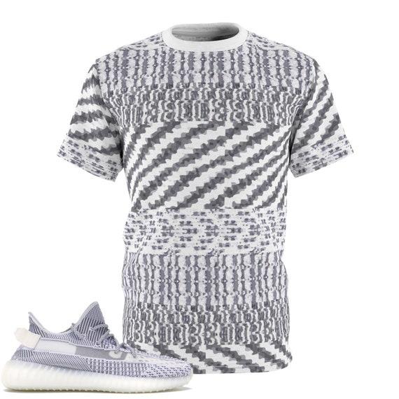 Yeezy Boost 350 V2 Static T Shirt, Yeezy Static Shirt, Static T Shirt, The Hand Drawn Animated Static Yeezy Shirt, Vectorized Static Design
