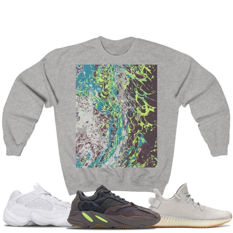 online store 53968 03d86 Yeezy 500 Salt Yeezy 350 V2 Sesame Yeezy 700 Mauve Sneaker Match Gildan  Crewneck Sweatshirt