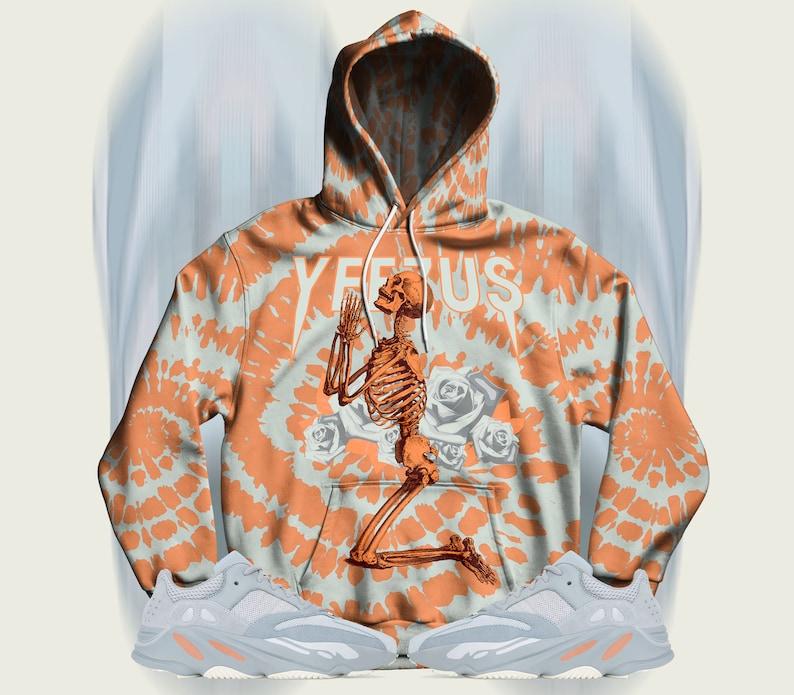 ca8019aed79c7 Inertia Yeezy Boost 700 Hoodie, Pullover Hoodie for Inertia Yeezys,  Sneakermatch Yeezy Hoodie, Inertia Tie Dye Print Yeezus, Cut&Sew V1