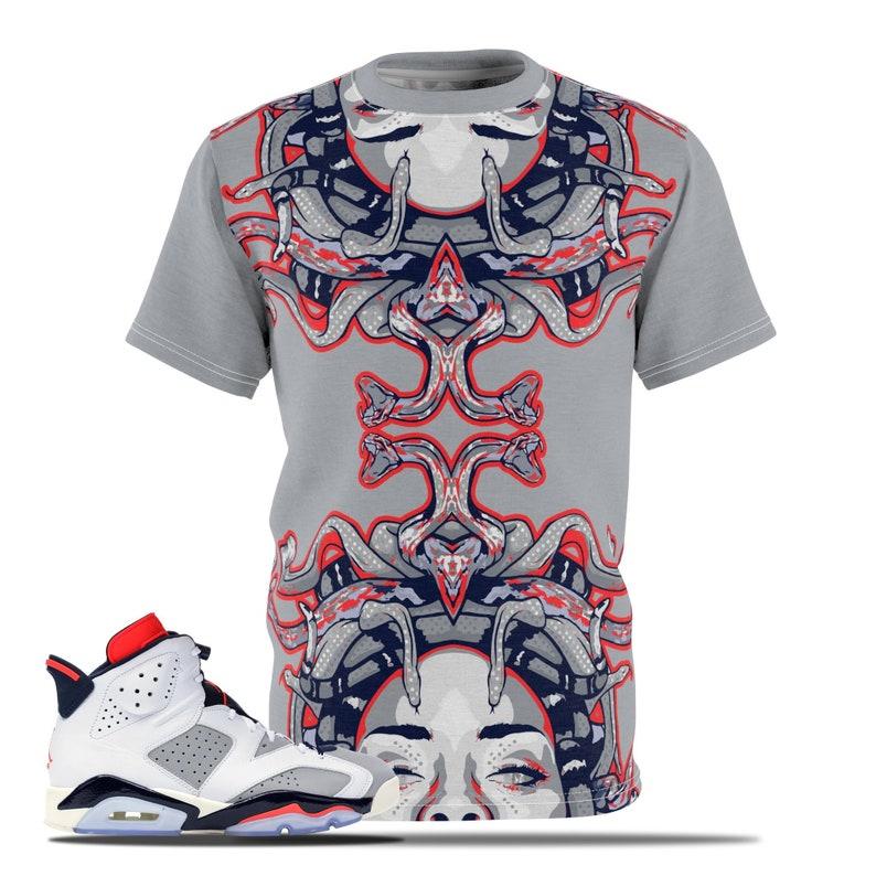 4da87ddbbaa3 Jordan 6 Tinker Infrared Sneakermatch T-Shirt Medusa Shirt