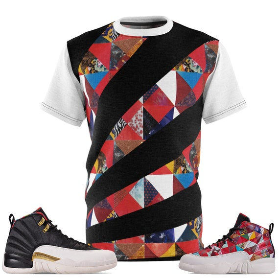 new style b63ef bcaf1 Jordan 12 Chinese New Year T-shirt, Jordan 12 CNY Shirt, Jordan 12 Shirt,  Jordan T-Shirt, Chinese New Year SneakerMatch T-Shirt Cut&Sew V2