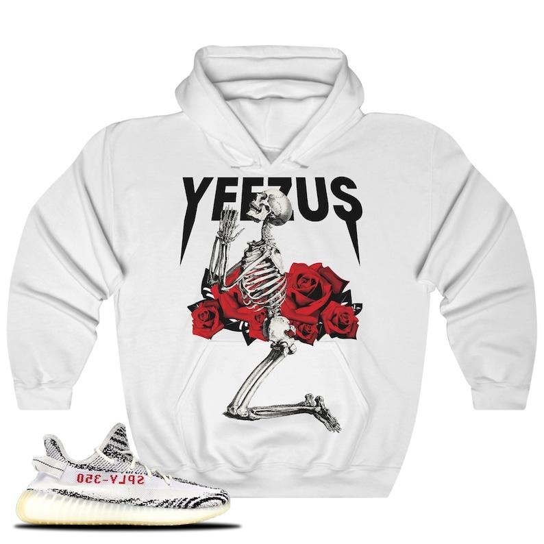 e98e192bf Yeezy Boost 350 V2 Zebra Sneaker Match Hoodie Sweatshirt