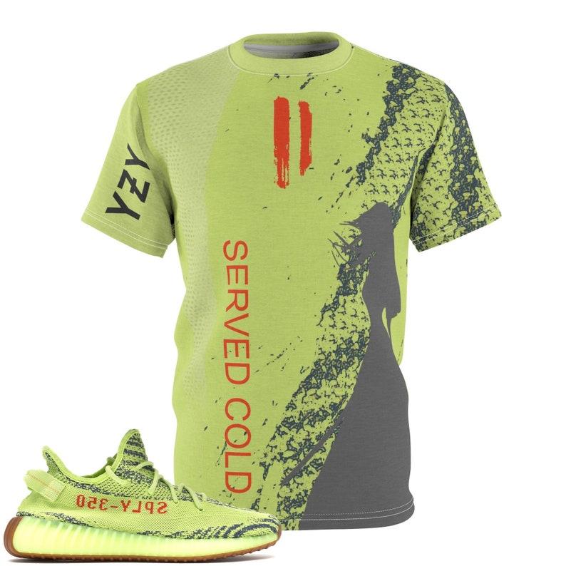 6ab052d4 Yeezy Boost 350 V2 Semi Frozen Yellow SneakerMatch T-Shirt V2   Etsy