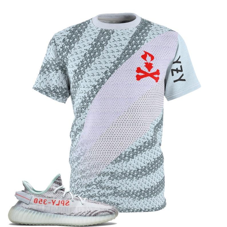 1344e52baa6 Yeezy Boost 350 V2 Blue Tint Sneaker Match T-Shirt V3