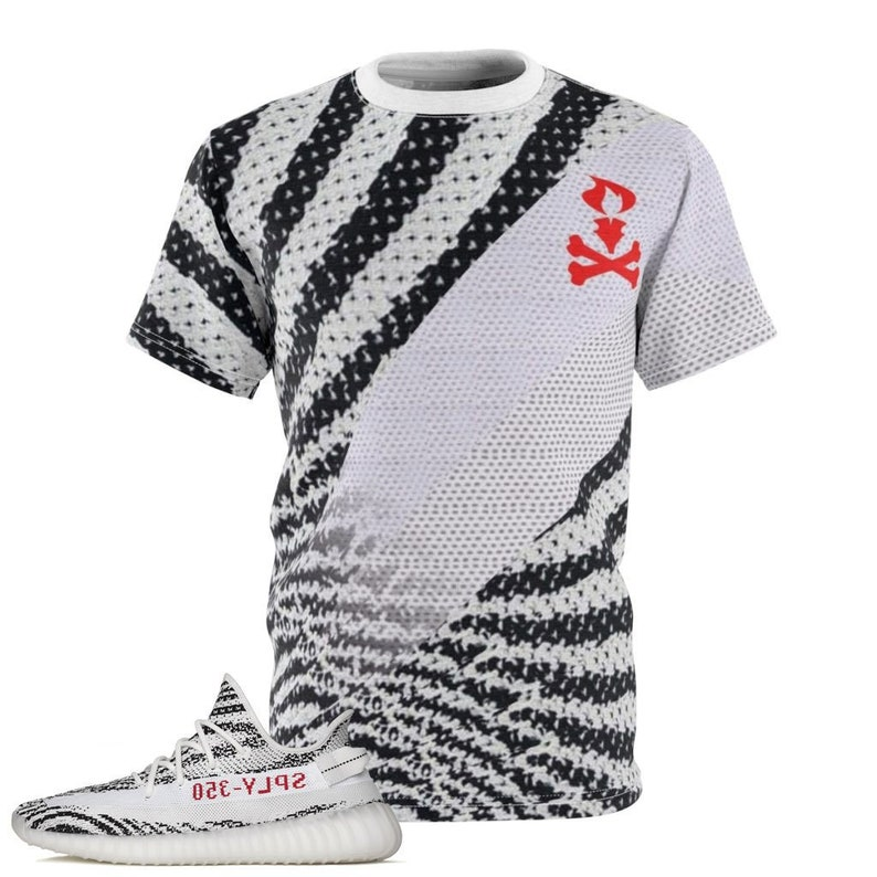 c01377d16 Yeezy Boost 350 v2 Zebra Sneaker Match T-Shirt by Chef