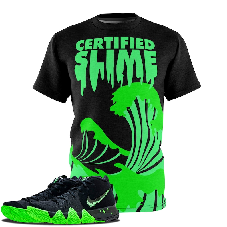 huge selection of 11c03 6561f Kyrie 4 Halloween Shirt, Kyrie Halloween T-Shirt, Certified Slime Cut&Sew