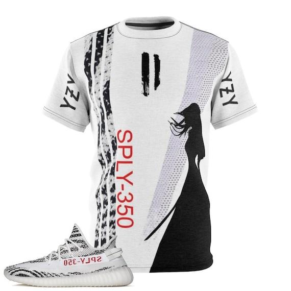 0e342f32ba53b3 ... Yeezy Boost 350 v2 Zebra Sneaker Match T-Shirt by Chef Etsy ...