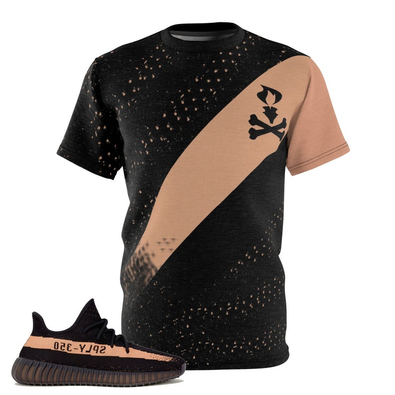58bcb85315039 Yeezy Boost 350 V2 Black Copper Match T-Shirt V3,Cut&Sew