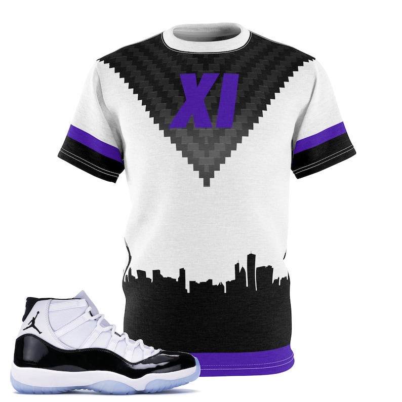 e56a8bcd37c9 Jordan 11 Retro Concord 2018 Sneaker Match T-Shirt Carbon
