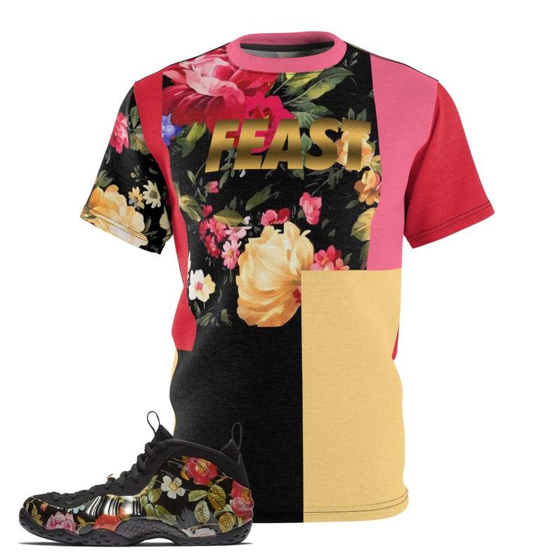 61b1733de71f9 Foamposite Floral All Over Print Sneaker Match Shirt Floral