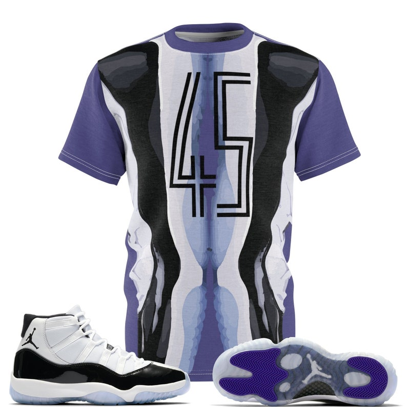 1702b6c5e9919f Jordan 11 Retro Concord 2018 Sneaker Match T-Shirt The 45