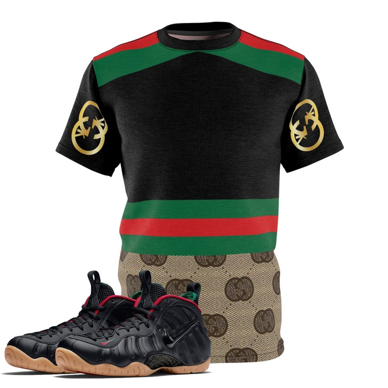 da0027de0cf Black Gucci Foamposite Shirt Foamposite Tee Foamposite