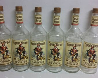 12 EMPTY captain Morgan rum bottles 1 liter