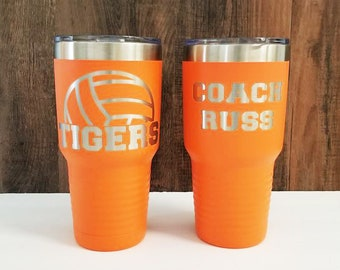 Volleyball Gift For Coach Player Personalized Stainless Steel Tumbler 20 Oz 30