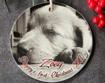 Dogs First Christmas Ornament.Dogs First Christmas Ornament Puppys First Christmas Etsy