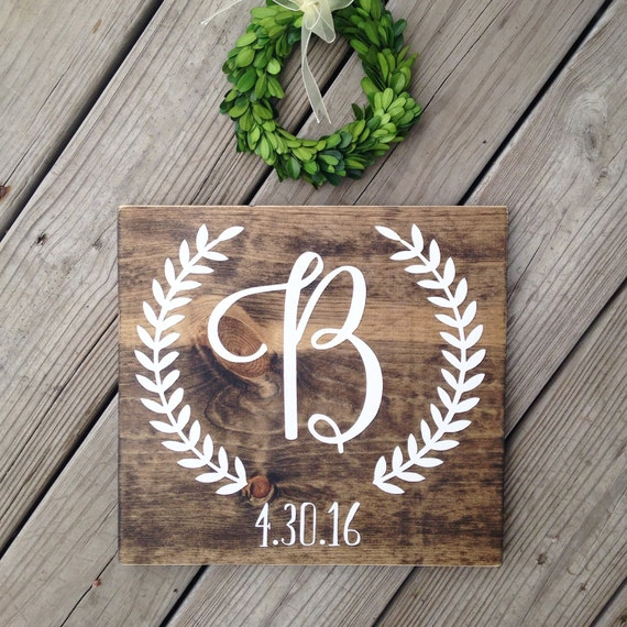 Personalized Wedding Gifts Canada: Initial Sign Personalized Wedding Gift Engagement Gift