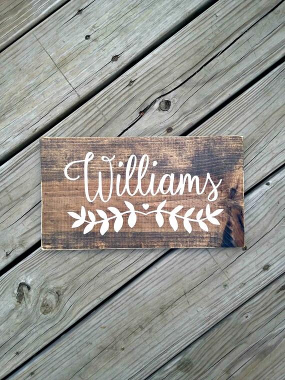 Last Name Sign Personalized Wedding Gift Custom Engagement Etsy