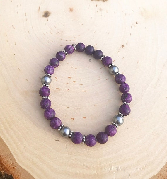 Intention Bracelet- Crystal Intention Bracelet- Reiki Infused Jewelry- Beaded Bracelet- Jasper