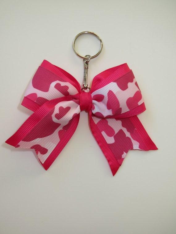 Bravo arc porte-clés, porte-clés bow, arc porte-clés, accessoire cheerleading, porte-clés pour sac à dos, archet pour sacs, cadeau de pom-pom girl, arc de sac