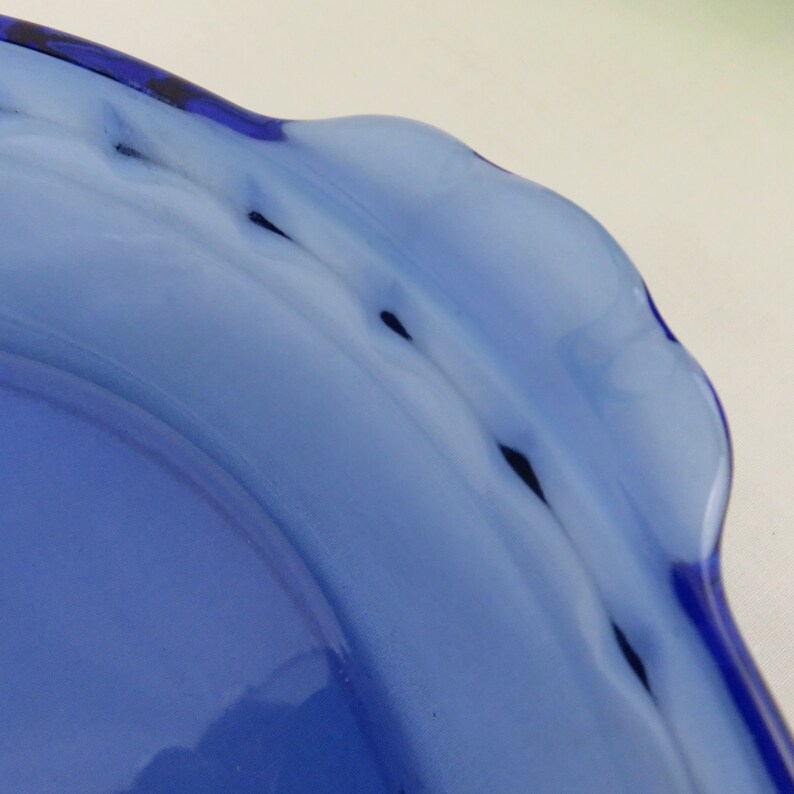 Pyrex Cobalt Blue 10 Deep Dish Pie Plate Model 229 Pie Pan with Fluted Rim and Tab Handles