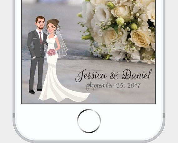 wedding snapchat filter discounted must purchase with custom | etsy
