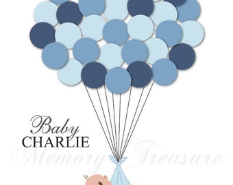 Baby Shower Guest Book Alternative Guest Sign In Ideas Blanket Balloons Poster Print Guest Sign Personalized Unique Creative Fun Original