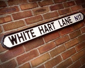 White Hart Lane Faux Cast Iron Old Fashioned Street Sign