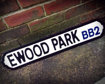 Blackburn Ewood Park Football sol rue signe