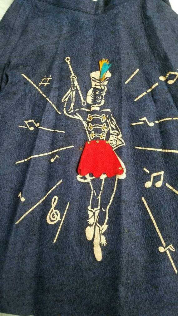 Vintage Felt Majorette Poodle Skirt (S)