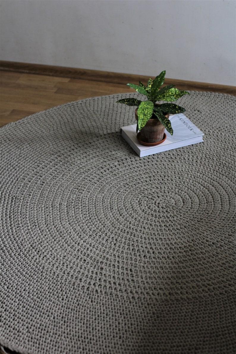 Naturel tapis scandinave lin tapis, tapis rond, tapis au Crochet, tapis de  chambre d'enfant, tapis salon, tapis de sol, tapis, tapis tricoté, tapis ...