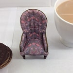 Handmade Victorian Spoonback Chair shabby chic style in 1/12th scale