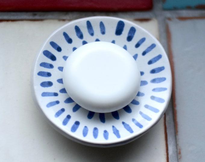 Featured listing image: Small Ceramic Soap Dish- 'Lacuna'