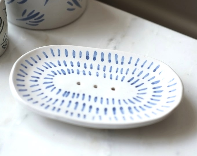Featured listing image: Ceramic Soap Dish -'Lacuna'