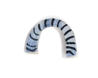 Ceramic Brooch - Blue Rainbow