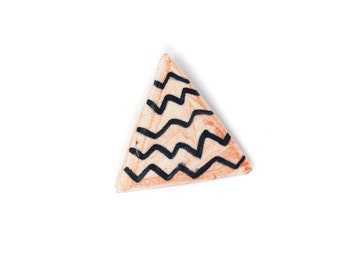 Ceramic Brooch - Pink Triangle