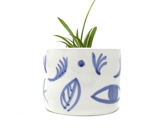 Small Ceramic Planter - 'Tide Mills' Range