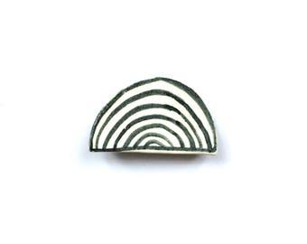 Ceramic Rainbow Brooch